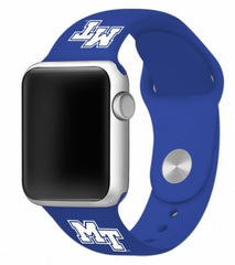 Middle Tennessee State Blue Raiders Silicone Apple Watch™ Band - Blue