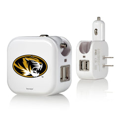 Missouri Tigers 2 in 1 USB Charger