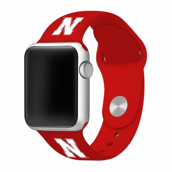 Nebraska Huskers Silicone Apple Watch™ Band - Scarlet
