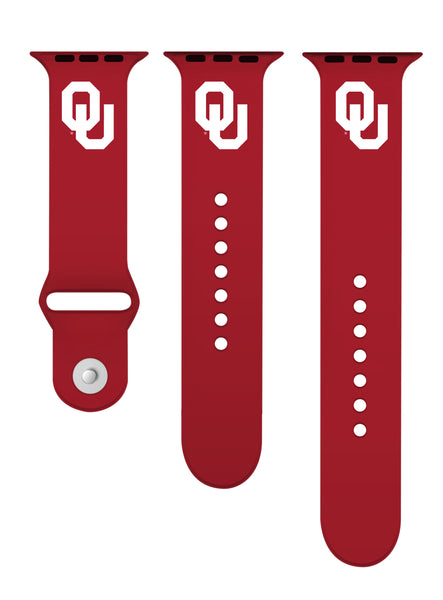 Oklahoma Sooners Silicone Apple Watch™ Band - Crimson