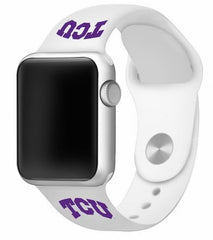 Texas Christian TCU Horned Frogs Silicone Apple Watch™ Band - White