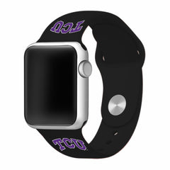 Texas Christian TCU Horned Frogs Silicone Apple Watch™ Band - Black
