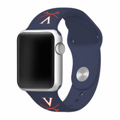 Virginia Cavaliers Silicone Apple Watch™ Band - Navy Blue