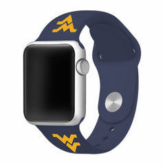 West Virginia Mountaineers Silicone Apple Watch™ Band - Blue