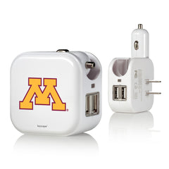 Minnesota Golden Gophers 2 in 1 USB Charger
