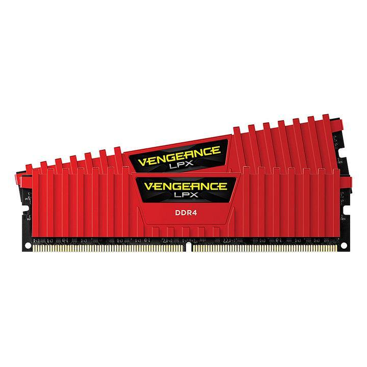 RAM Corsair VENGEANCE LPX 16GB (2x8GB) - Bus 2666MHz C16 - Red