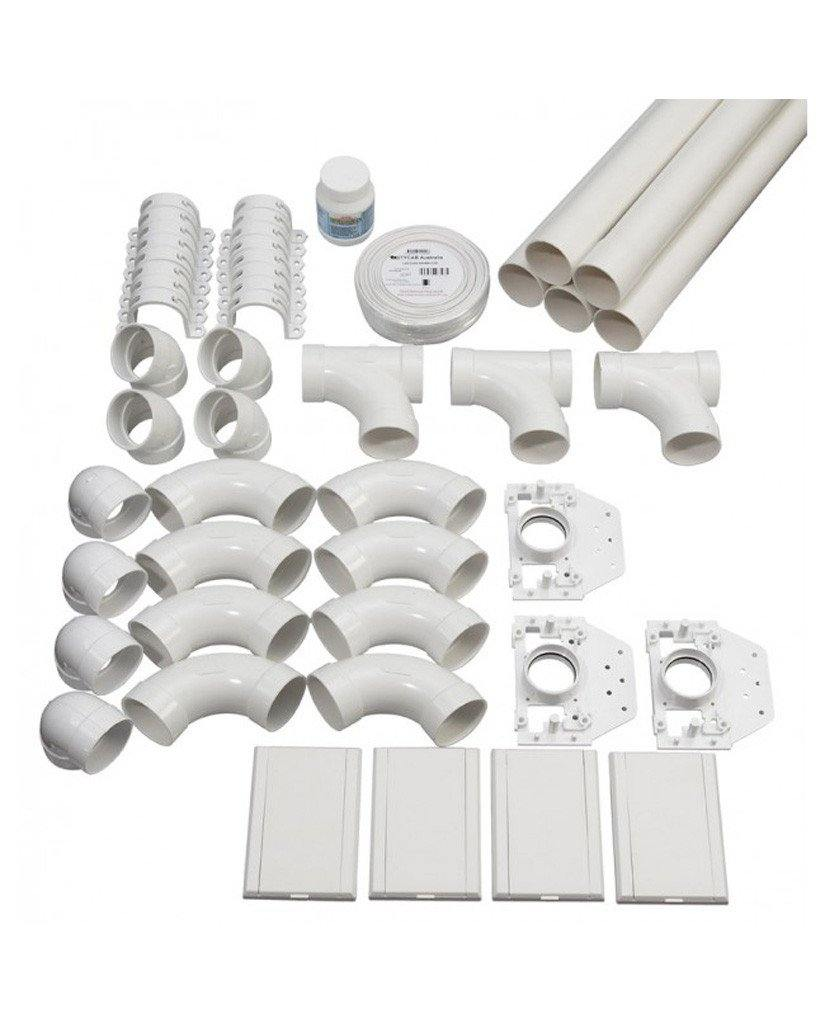 Deluxe DL1700B Complete Kit for 300 M² home | 4-inlet