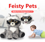 "Feisty Pets: Adorable 8.5"" Plush Stuffed Animal That Turns Feisty With A Squeeze"
