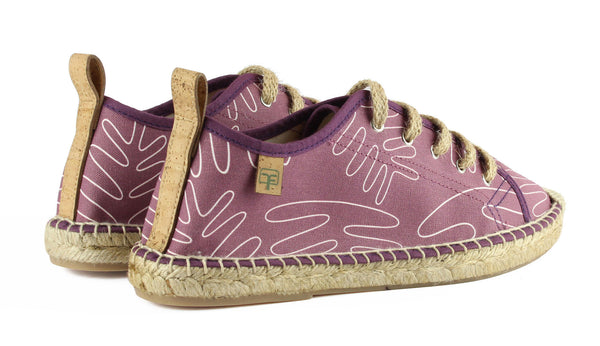 Berry Purple Sitges Tennis Style Women's Espadrille Back