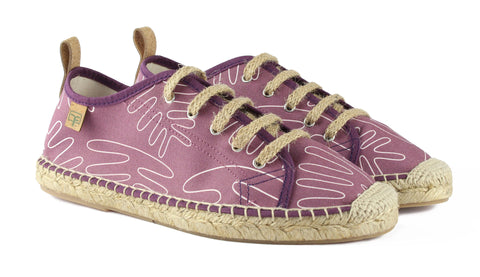 Berry Purple Sitges Tennis Style Women's Espadrille Front