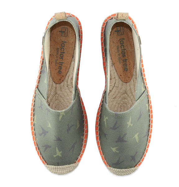 Camouflage Green Begur Classic Style Women's Espadrille