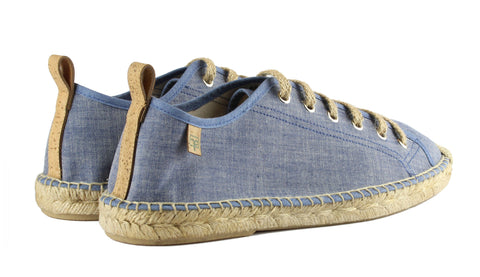 Denim Blue Sitges Tennis Style Men's Espadrille Back