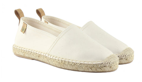 Ecru White Begur Classic Style Women's Espadrille Front