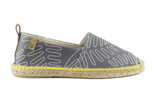 Graphite Grey Begur Classic Style Men's Espadrille Side