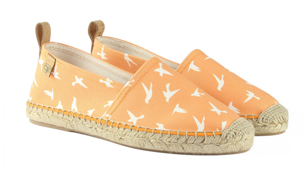 Sunset Orange Begur Classic Style Women's Espadrille Front