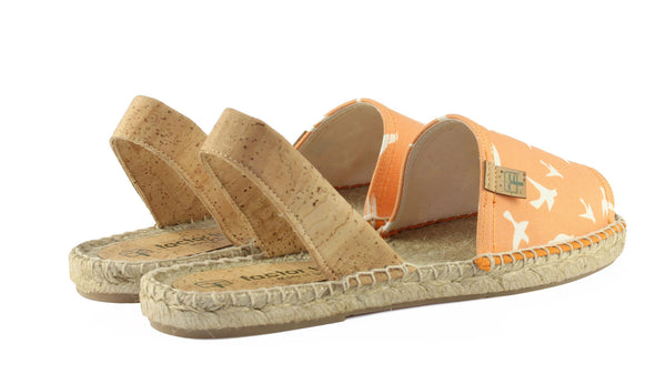 Sunset Orange Cadaqués Women's Espadrille Sandal Back