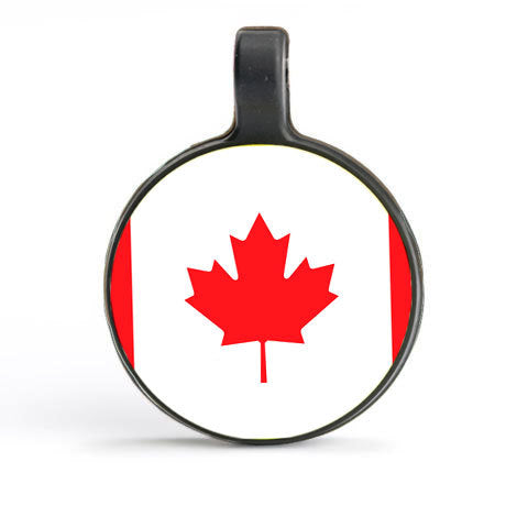 White Circle as Canada Flag Tag