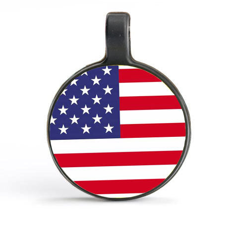 White Circle as USA Flag Tag