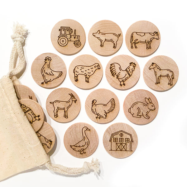 Farm Animal Memory Matching Game