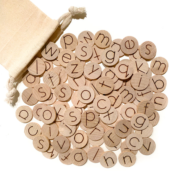 "Alphabet Discs (Set of 100 Mini 1"")"