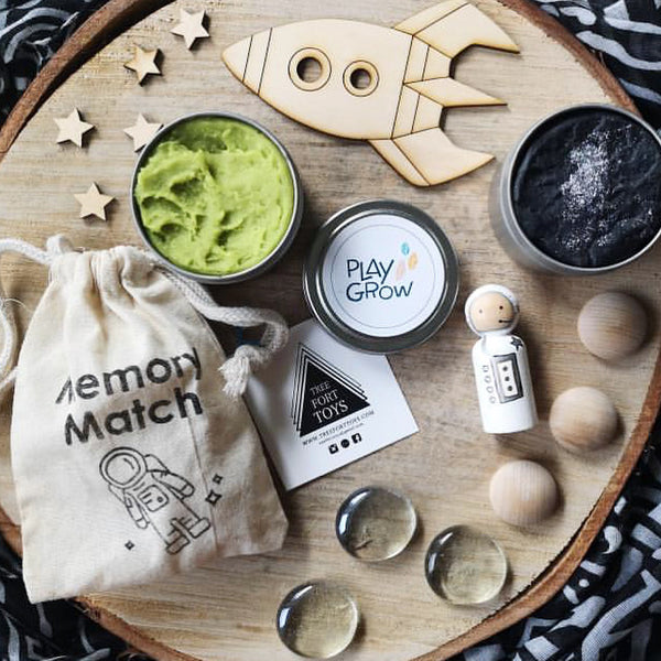 Space Play Dough + Memory Match Kit