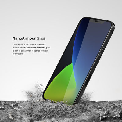 NanoArmour Anti-Microbial iPhone 12 Screen Protector
