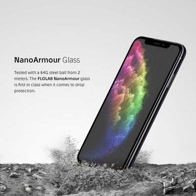 NanoArmour iPhone XS Anti Glare Screen Protector Case Friendly