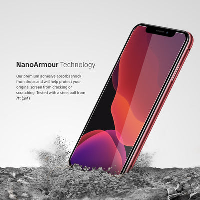 Nanoarmour technology iphone 11 Pro Max case friendly 2.5D screen protector