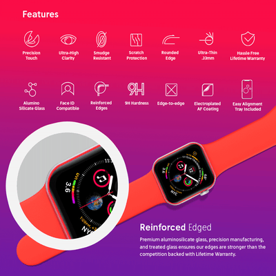 NanoArmour Apple Watch Screen Protector Series 4