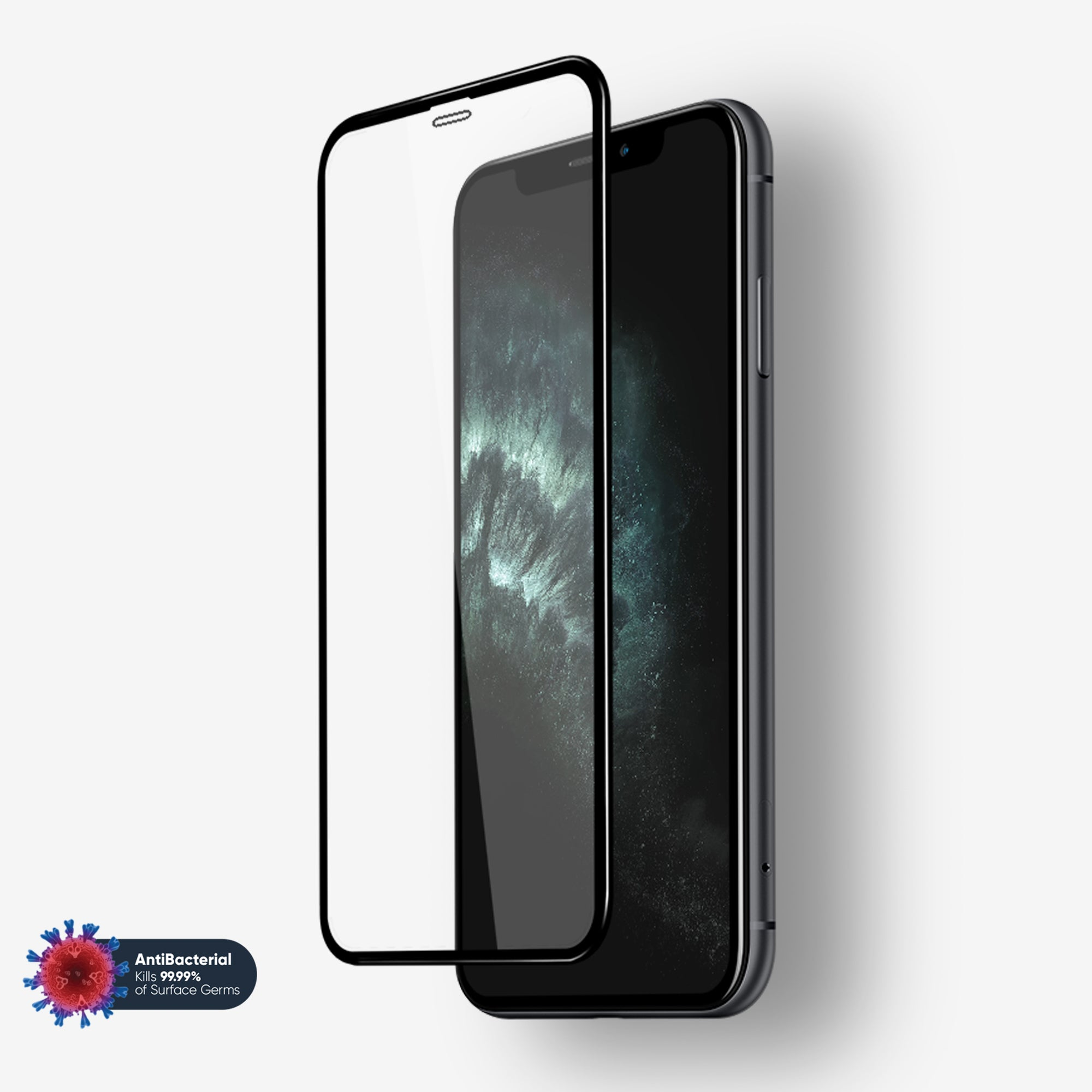 NanoArmour Anti-Microbial 3D iPhone 11 Pro Max Screen Protectors