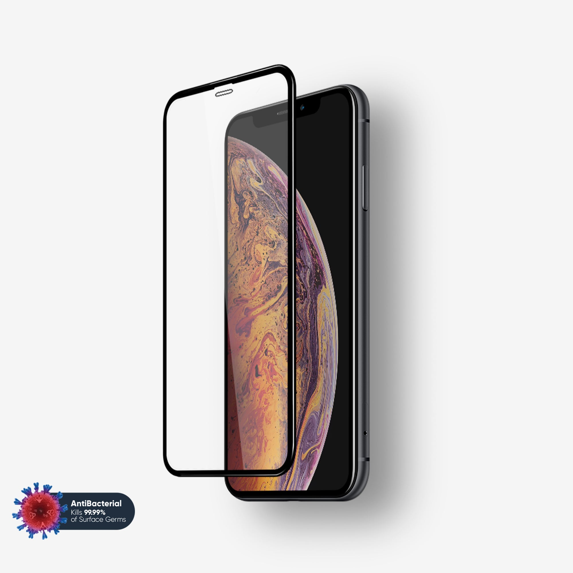 NanoArmour Anti-Microbial 3D Screen Protector iPhone X / XS