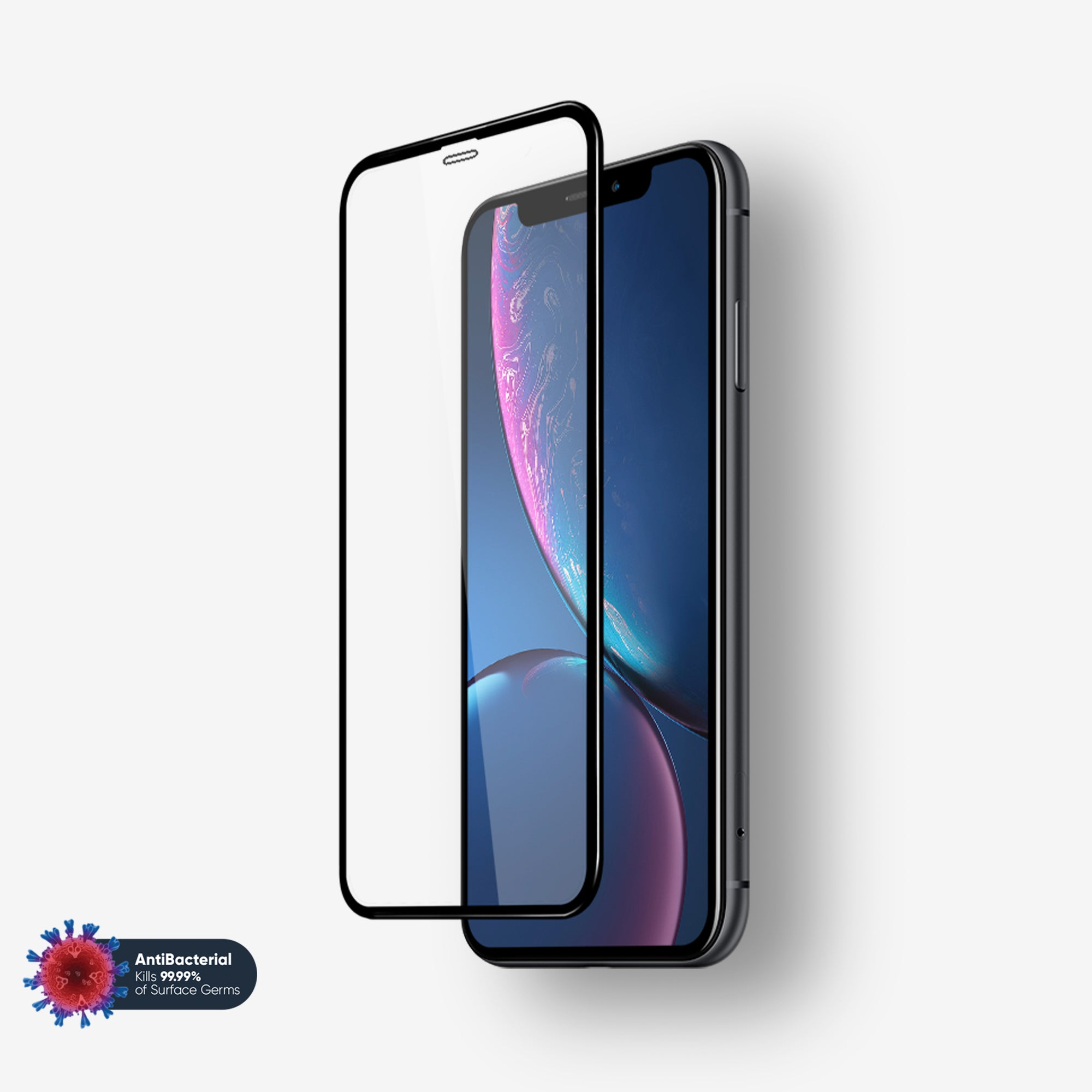NanoArmour Anti-Microbial 3D best screen protector for iPhone XR