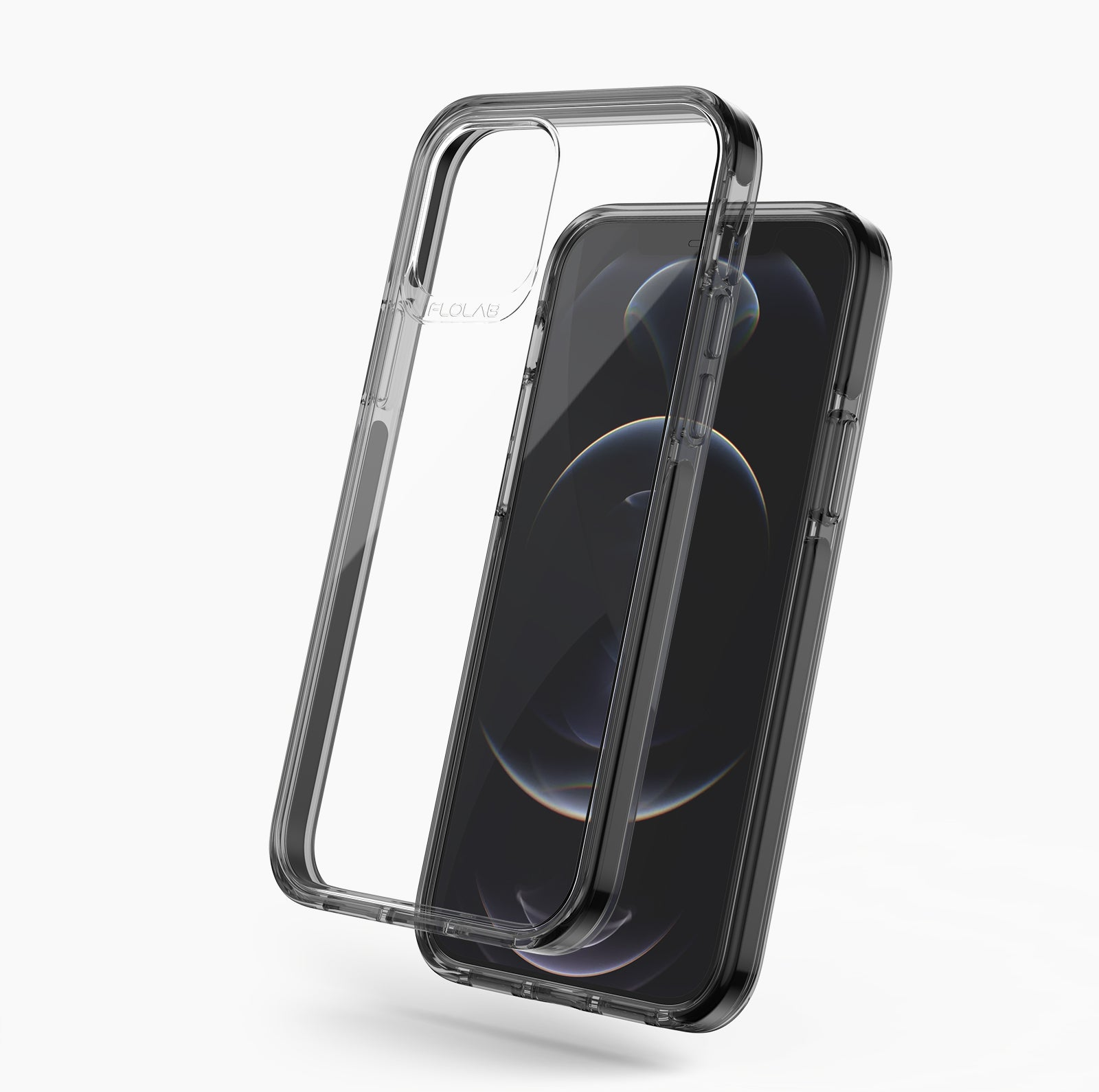 Black Clear iPhone 12 Case TAFFYCA Series