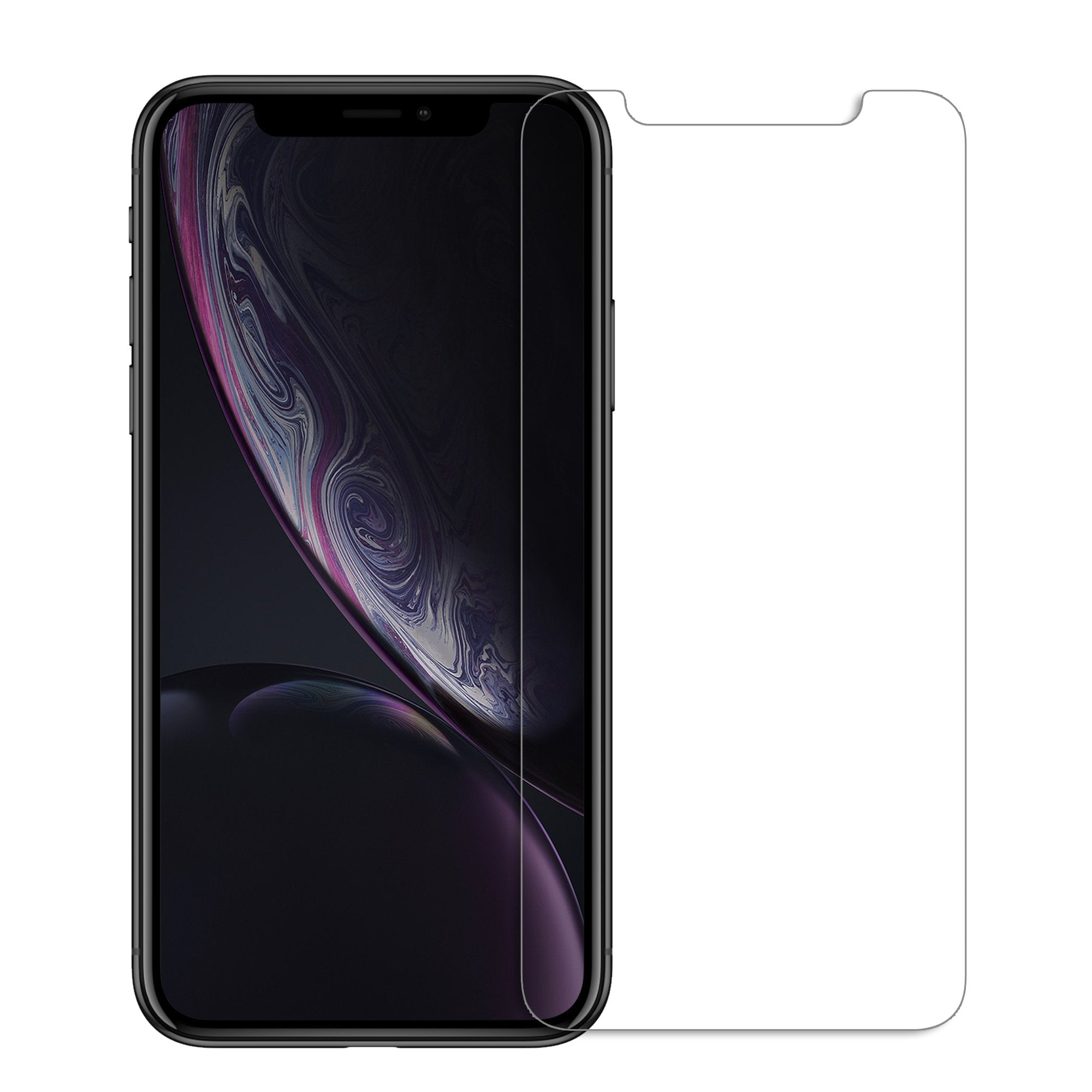 FLOLAB NanoArmour iPhone XR 2.5D Case Friendly Tempered Glass Screen Protector