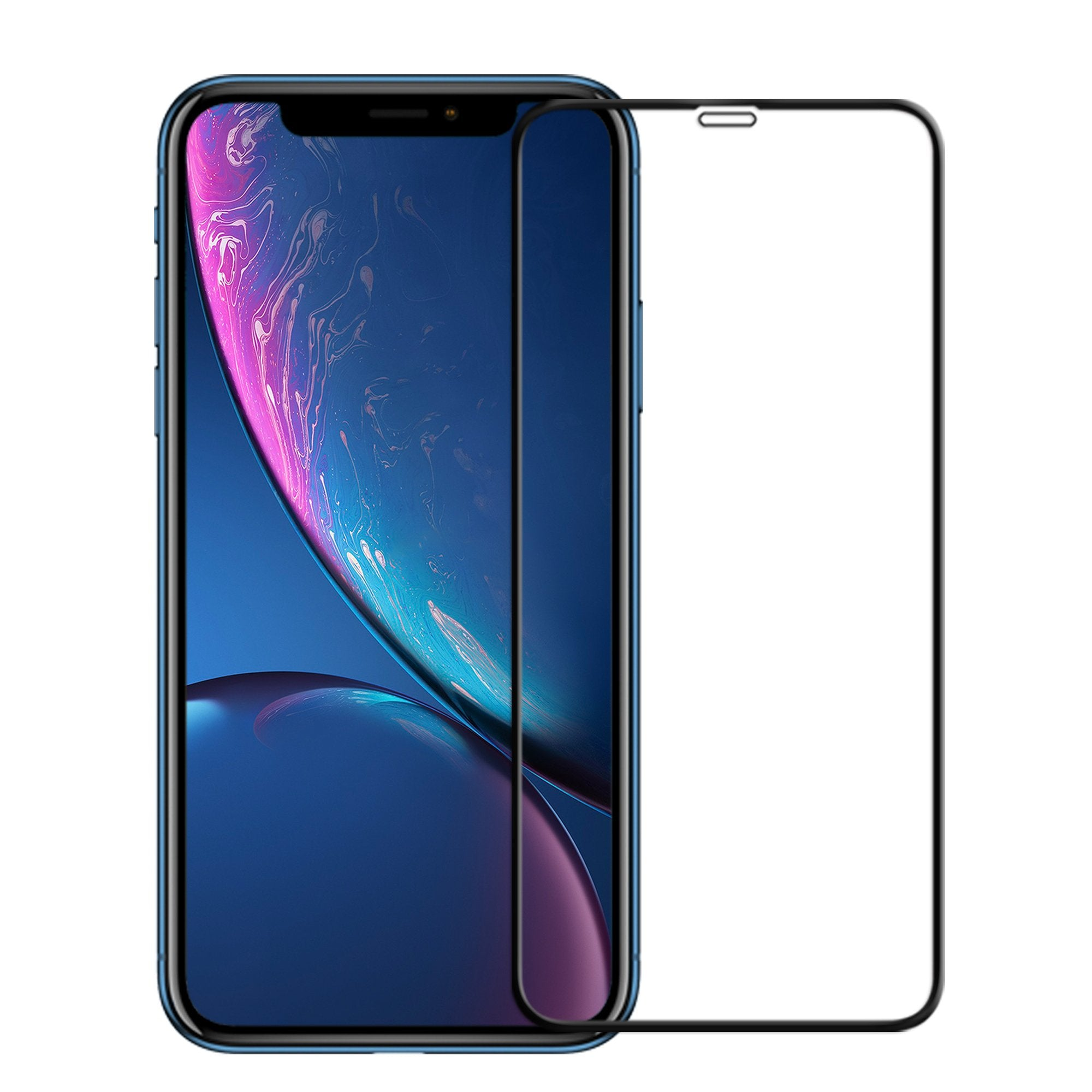 FLOLAB NanoArmour iPhone XR 3D Full Cover Tempered Glass Screen Protector