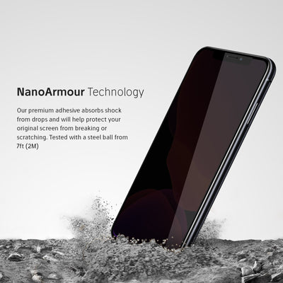 iPhone Xr Privacy Glass NanoArmour Technology