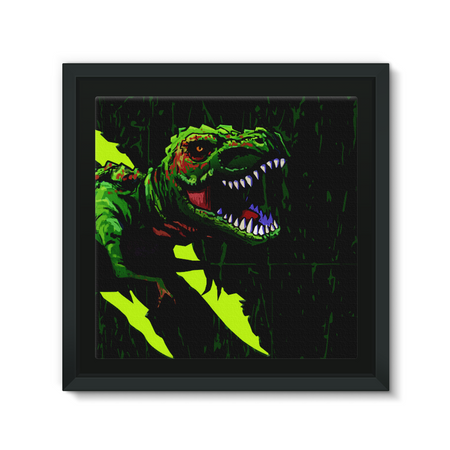 T-Rex Psyco Framed Canvas - Immersive Play