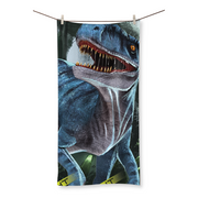 Velociraptor Blue Beach Towel - Immersive Play