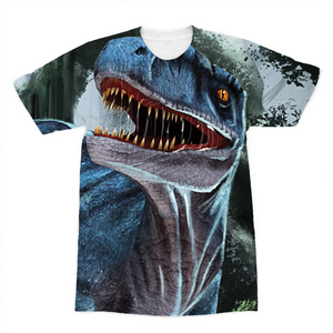 Velociraptor Blue Sublimation T-Shirt