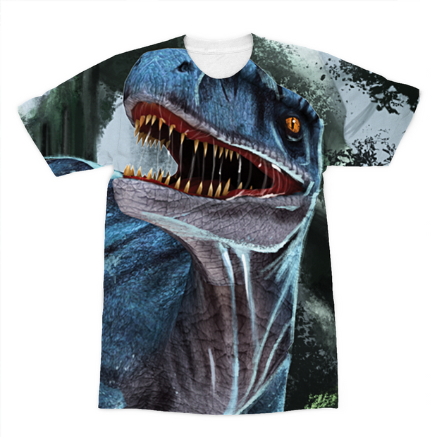 Velociraptor Blue Sublimation T-Shirt - Immersive Play