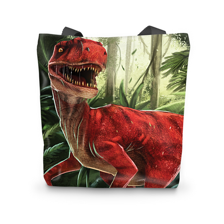 Velociraptor Red Tote Bag - Immersive Play