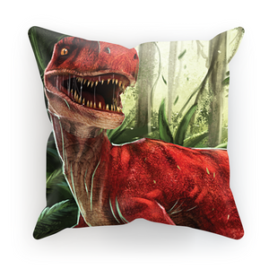 Velociraptor Red Cushion
