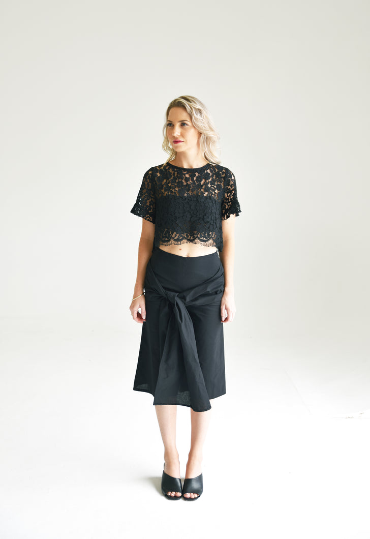 Ethereal Noir Culottes