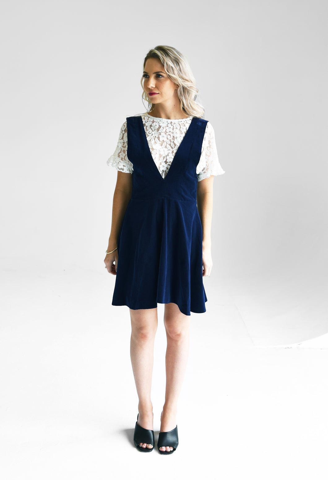 Darling Navy Velvet Dress