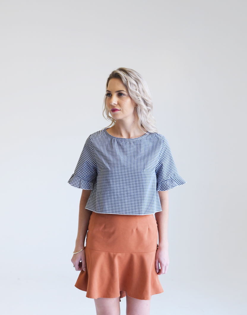 Jenny Gingham Angel Crop