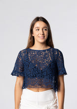 Darling Navy Angel Crop