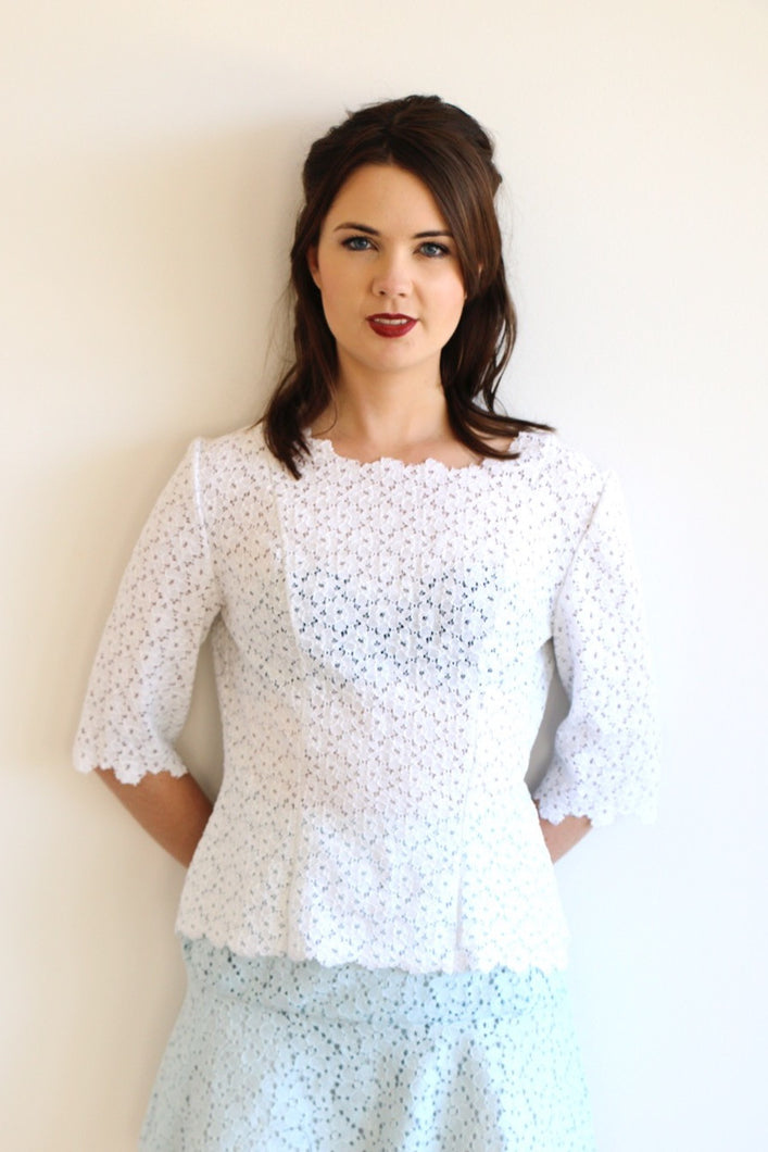Sweet Nothings - Gemma Sleeve Top in White