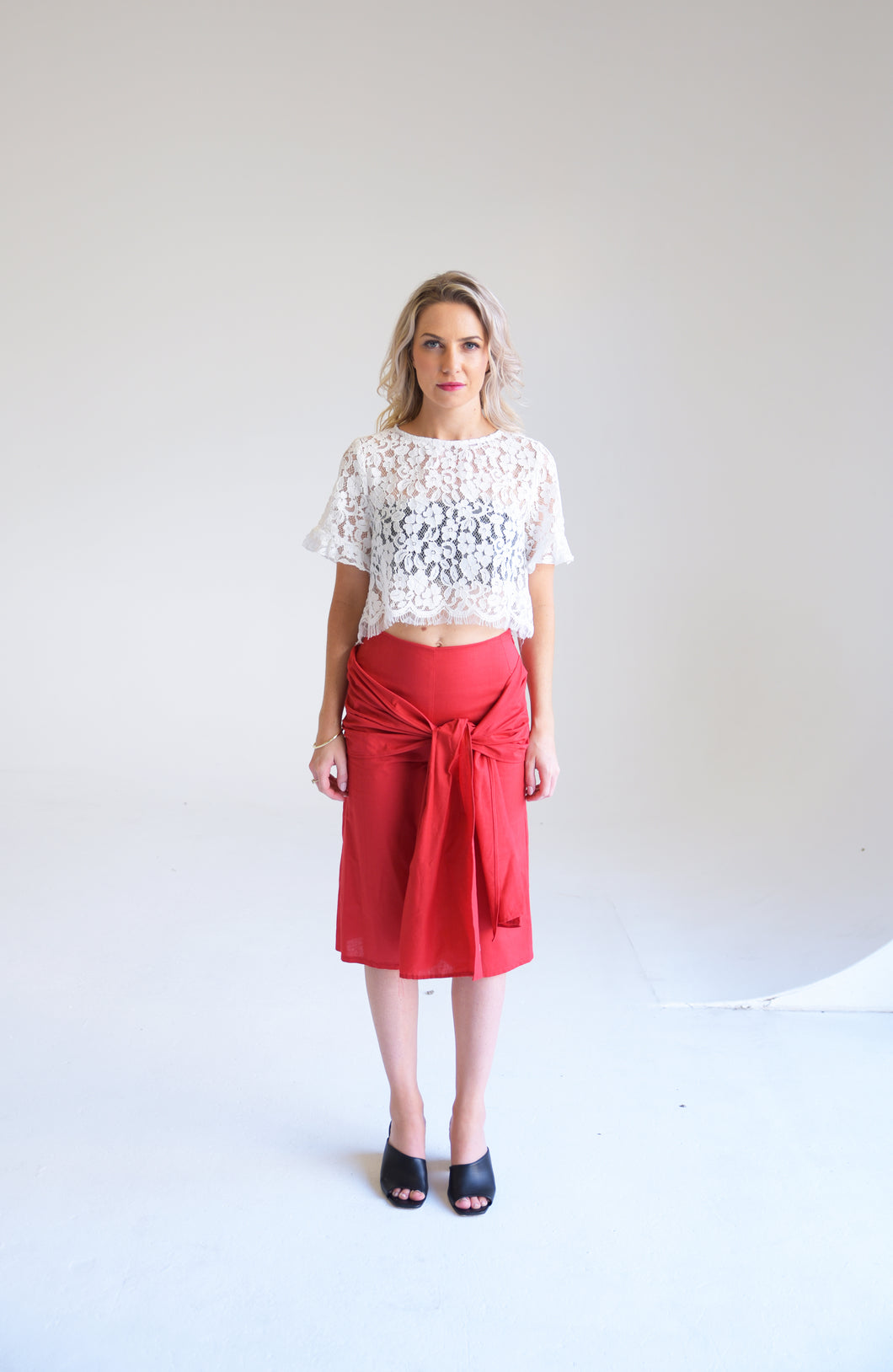 Ethereal Red Culottes (Available in Black also)