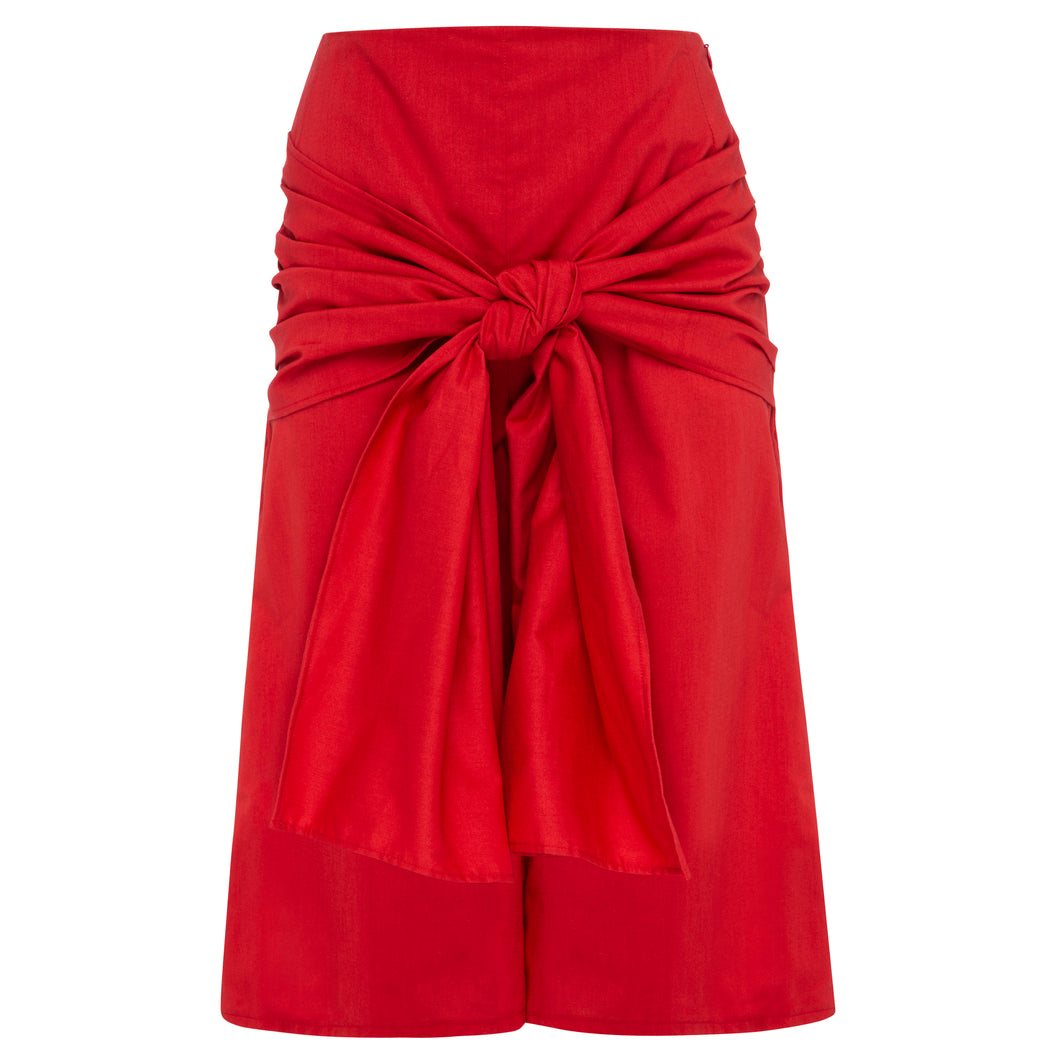 100% Cotton Ethereal Red Culottes
