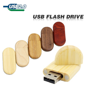 TECHKEY Wooden External storage usb
